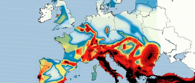 File:Southern and Central Europe earthquake risk.png