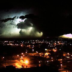 The Dodge City EF3, shot at Night-Time