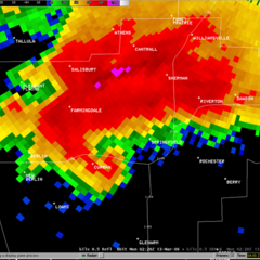 The Conway Springs Storm on Radar
