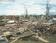 EF4 damage in Springfield, Illinois