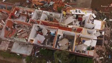 High EF3 damage in Albany, GA caught by drone on January 23, 2017