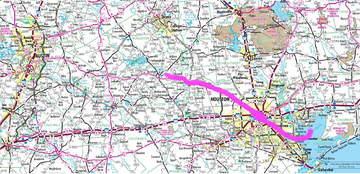 Houston Tornado Path