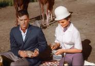 Princess Tarji and MAJ Nelson have a picnic