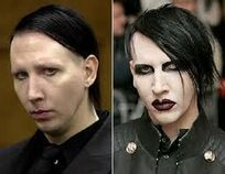 Manson with and without makeup