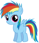 Young rainbow dash by atomicgreymon-d3d1u8w