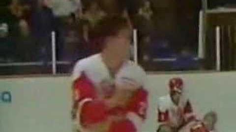 Canada vs Russia 1987 World Junior Hockey Fight