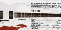 EX120 (1989–1991, basswood body)