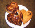 Heart-shaped chocolate pie and cookie!.jpg