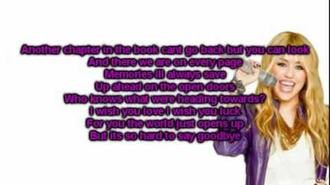 Hannah Montana Forever I`ll Always Remember You With Lyrics On Screen DOWNLOAD LINK