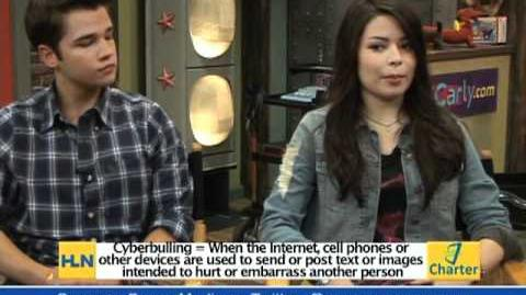 Miranda Cosgrove and Nathan Kress on Charter Local Edition HLN