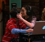 So she gives him a nose kiss