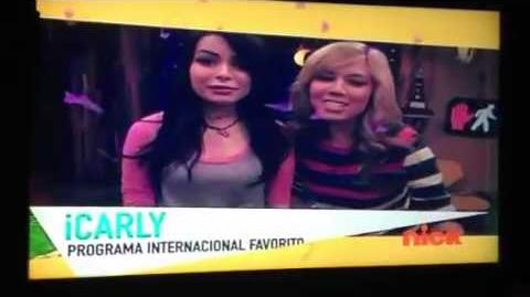 ICarly won as fave International show on the KCA's Mexico 2