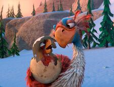 Ice Age The Great Egg-Scapade Diatryma Parent and chick, aka Beaky Birds
