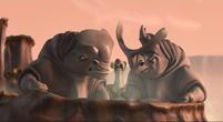 Sid screaming & running from Rhinos