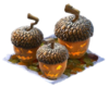 Ice world acorn lanterns