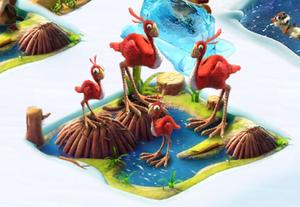 Full red ostrich