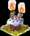 Transparent birthday cake