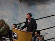 Gary Bettman at Entry Draft 2008