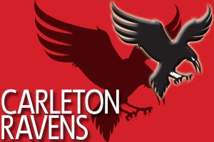 Carleton-ravens-red poster