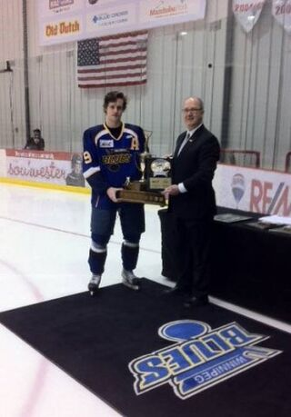 Connor Cleverley (2013 Lorne Lyndon for Hockey Ability & Sportsmanship)
