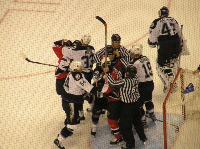 File:Ottawa v Tampa Bay refs goal fight April 22 2006.jpg