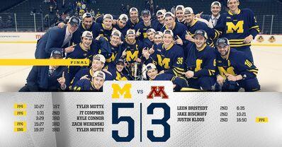 2016 Big 10 champs Michigan