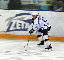 Alexander Koreshkov 2009-01-17 KHL game Dynamo-Barys