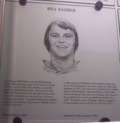 Bill Barber plaque hhof