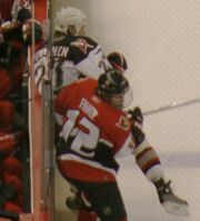 Mike Fisher throws check May 29 2006