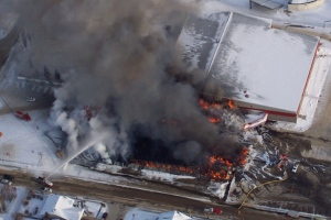 Kindersley Rink Fire
