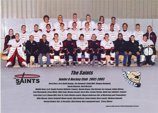 St. Boniface Saints 2002-03