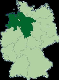 443px-Deutschland Lage von Niedersachsen svg