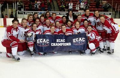 2016 ECAC West Women's champions Plattsburgh Cardinals