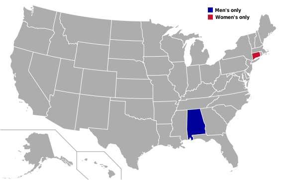 File:Map - College Hockey - Independents states.png