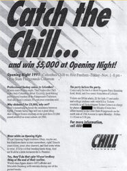 91-92ECHLColumbus GameAd