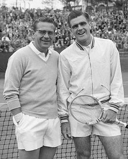 Jaroslav Drobný and Hubert Wilton 1958