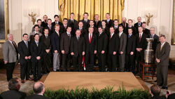 Carolina Hurricanes (2006StanleyCupChampions) at WhiteHouse, 2007Feb02