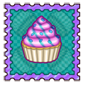 Cottoncandy Candy Cupcake Stamp