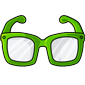 Green Hipster Glasses