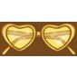 Yellow Heart Sunglasses
