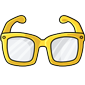 Yellow Hipster Glasses