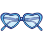 Blue Heart Sunglasses
