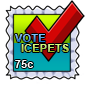 Vote IcePets Stamp