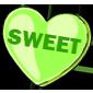 Green Candy Heart