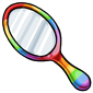 Rainbow Hand Mirror