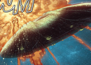 Independence day escape saucer in comic