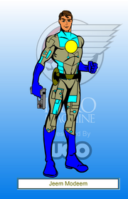 Jeem Modeem as cyborg v1