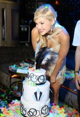 Olivia Holt with Feather Cake