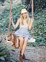 Olivia on a Swing