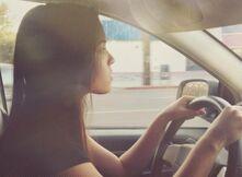 Piper Driving a Car